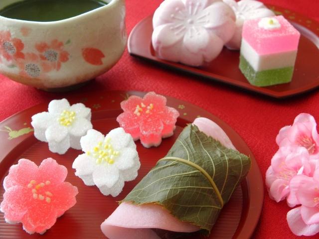 抹茶と美しい和菓子