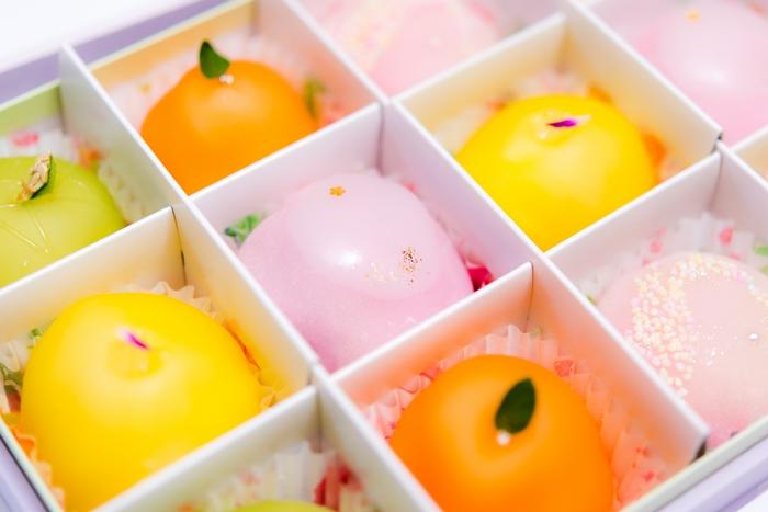 色とりどりの和菓子